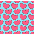 Pink contour heart Seamless Pattern Wrapping paper vector image vector image