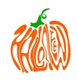 Pumpkin lettering for Halloween on a background vector image vector image