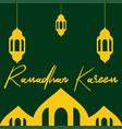ramadhan kareem greeting vector image vector image
