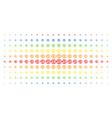 refund spectrum halftone effect vector image vector image