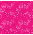 Romantic heart and butterfly seamless pattern vector image vector image