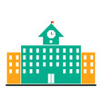school house college building isolated vector image