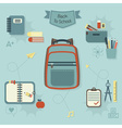 School items icon set vector image vector image