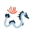 sea dragoncartoon animal character vector image vector image