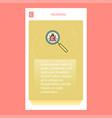 search bug mobile vertical banner design design vector image