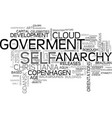 self-goverment word cloud concept vector image vector image