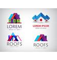 set houses real estate building logos vector image