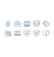 set love icons such as love ticket be sweet vector image vector image