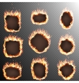 Set of 9 Fire labels template EPS 10 vector image vector image