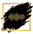 sound waves icon golden icon at black vector image vector image