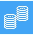 Stacks of Coins vector image