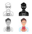 superman single icon in cartoon style superman vector image
