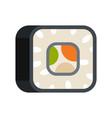 sushi icon flat style vector image
