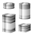 Tin conserve can set vector image