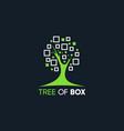 tree box square logo abstract vector image vector image