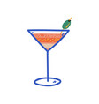 tropical cocktail martini glass with olive vector image vector image