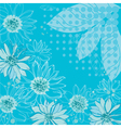 turquoise flowers background vector image vector image