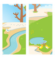 two lovely birds spring street outdoor nature card vector image vector image