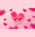 valentines day sale shopping banner or poster vector image