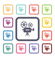 video flat icons set vector image vector image