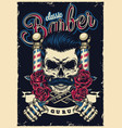 vintage barbershop colorful poster vector image