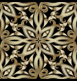 vintage gold 3d paisley seamless pattern ornate vector image vector image