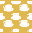yellow tea cups seamless pattern vector image