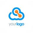cloud connect technology logo vector image