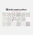 seamless patterns collection backdrop for vector image