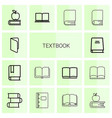 14 textbook icons vector image vector image