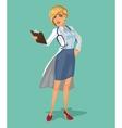 3d doctor woman vector image