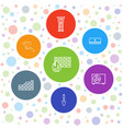 7 wall icons vector image vector image