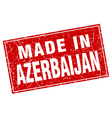 Azerbaijan red square grunge made in stamp vector image vector image