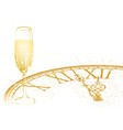 background with champagne and golden dial vector image vector image