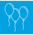 Balloons thin line icon vector image vector image