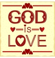 Bible verse God is love in red