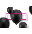 black balls on white background vector image vector image