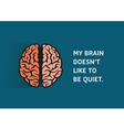 Brain Quote vector image vector image
