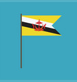 brunei flag icon in flat design vector image