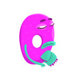 cartoon character monster letter q vector image vector image