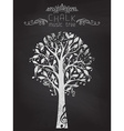 Chalk music tree on blackboard background vector image vector image