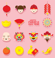 Chinese New Year Icons Set vector image vector image