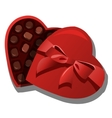 Chocolate box of chocolates in heart shape