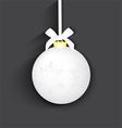 Christmas silver ball vector image vector image
