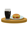 cola and a delicious burger vector image vector image