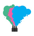 colored smoke from pipes of factory industrial vector image