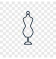 couture mannequin concept linear icon isolated on vector image