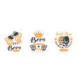 craft beer premium quality logo templates design vector image