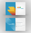 Creative business card design print template vector image vector image