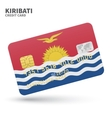 Credit card with Kiribati flag background for bank vector image vector image
